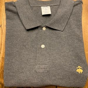 Brooks Brothers Mens Polo Shirt / Grey Slim Fit
